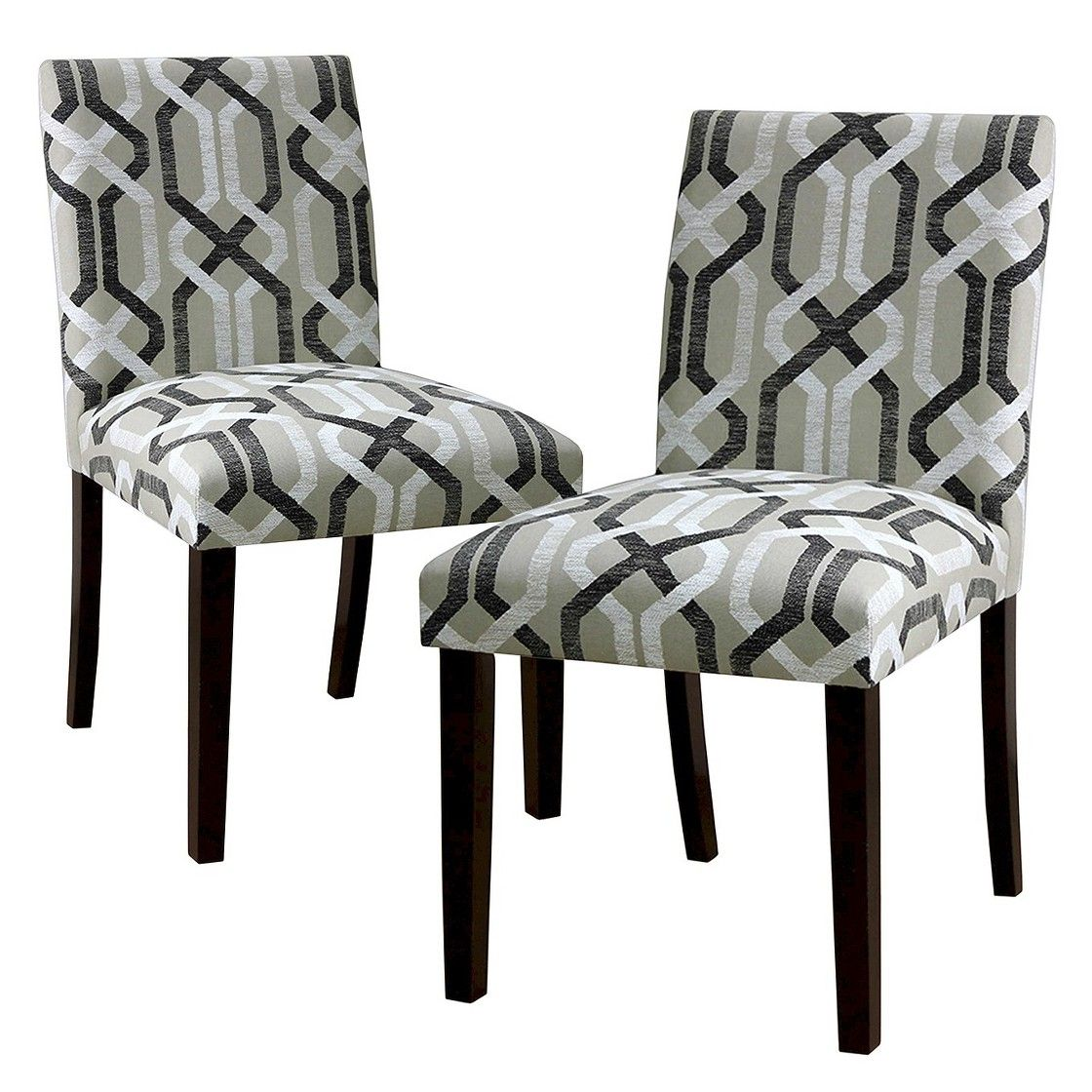 Uptown Dining Chair Multi Neutral Geo (Set of 2) Chair