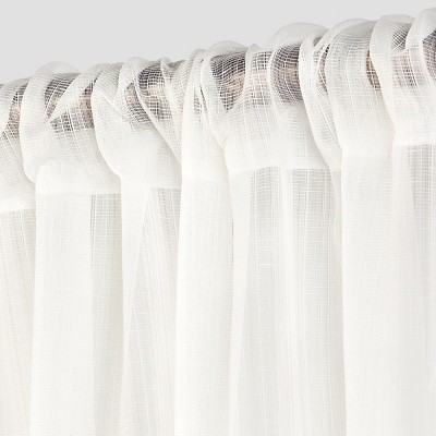 Textured Sheer Curtain Panel White 42 X84 Room Essentials
