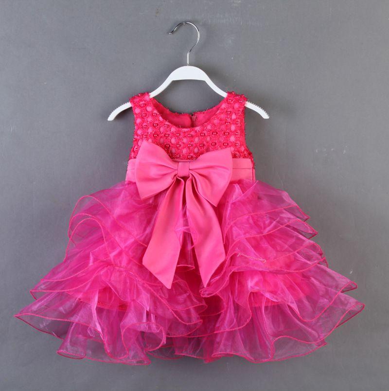 2 Year Old Flower Girl | Children-dress-beads-bow-flower-girl-princess-dress-Korean-sleeveless ...