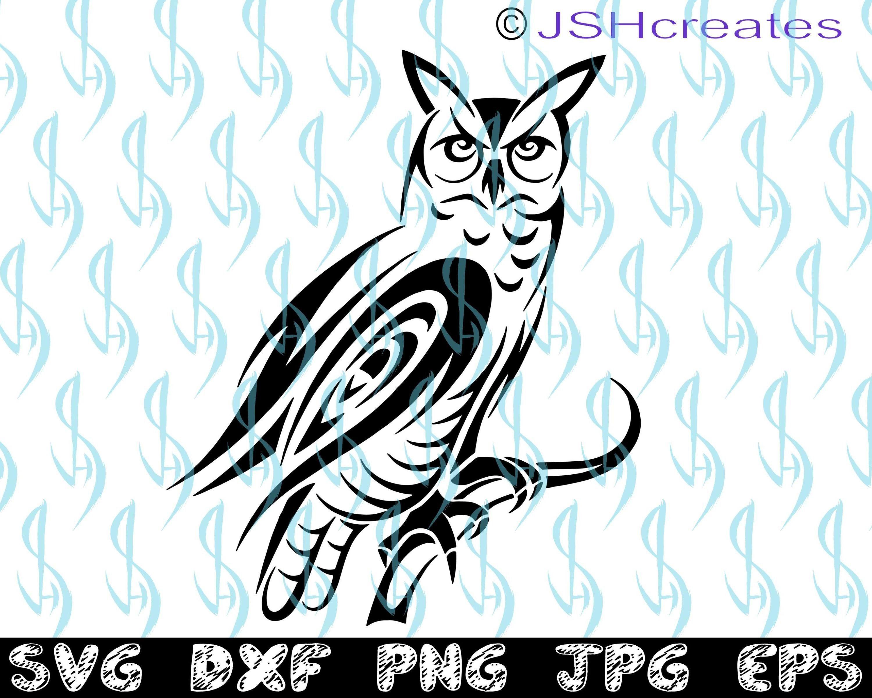 6983e59d9 Owl svg, Bird svg, Long Eared Owl, SVG, Tribal, Stencil Art, dxf ...