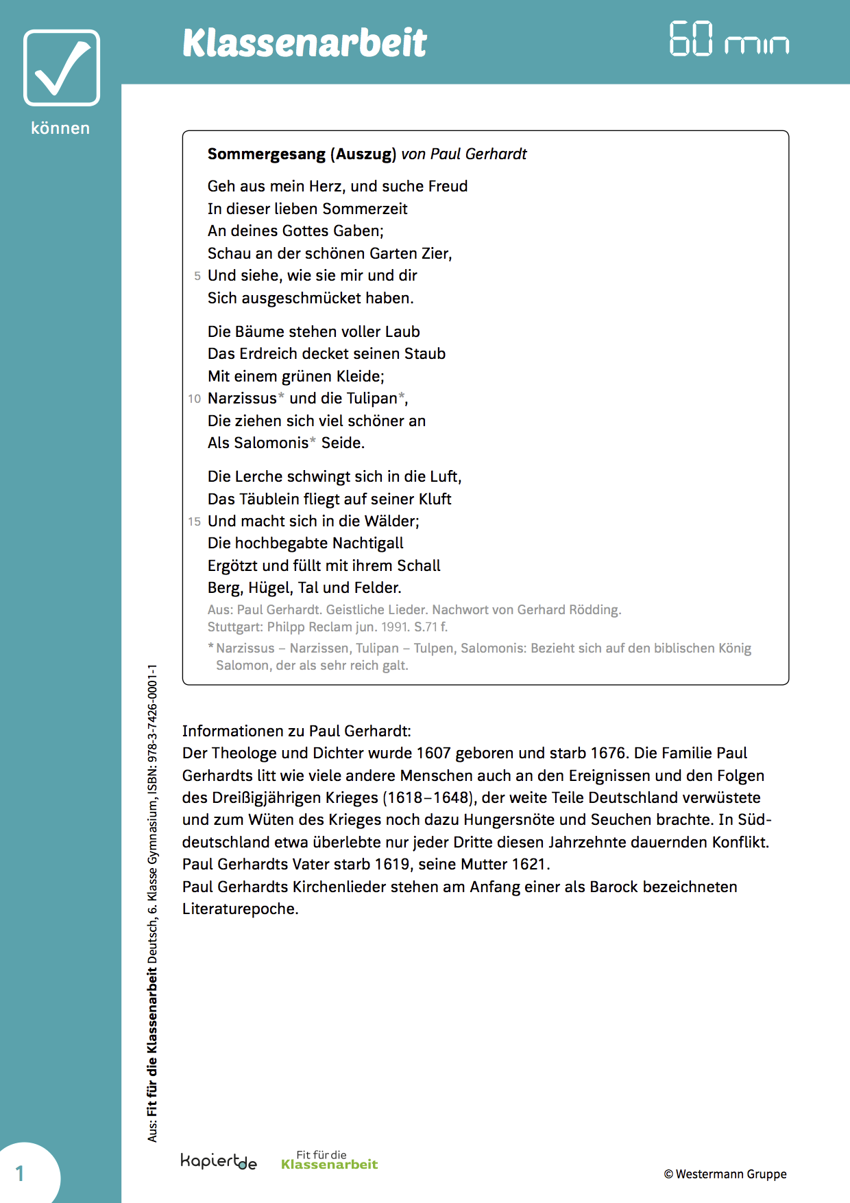 Gedichtinterpretation 4