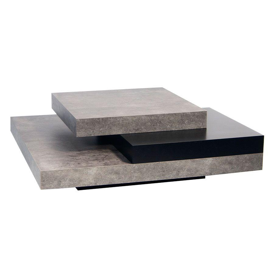 Temahome Slate Modern Concrete Coffee Table Design Modern Huiskamer [ 900 x 900 Pixel ]