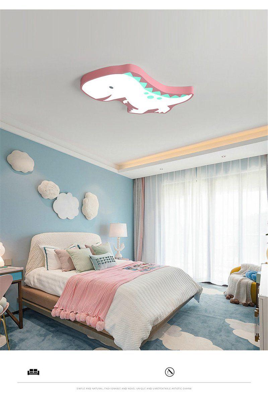 Novelty Dinosaur LED Ceiling Lights Iron Modern Lovely Children