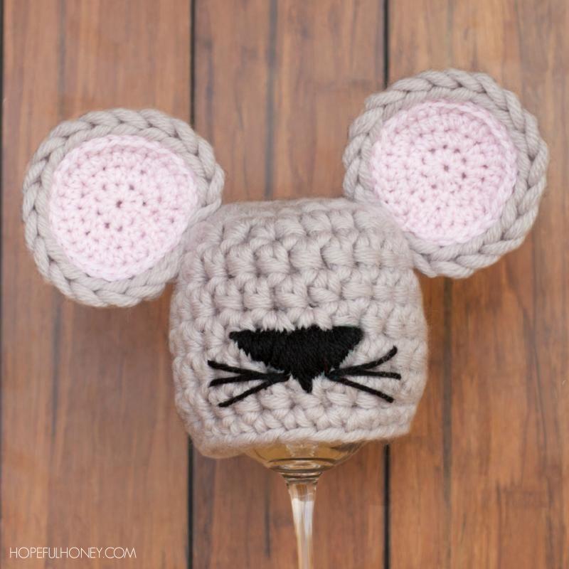 Newborn Mouse Hat Free Pattern Crochet Baby Pinterest Mice