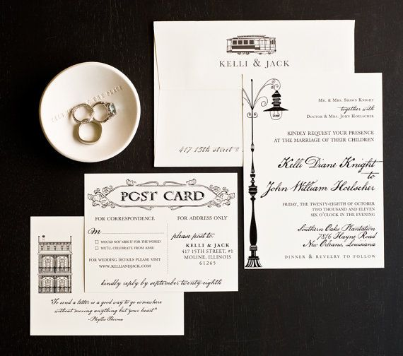 NEW ORLEANS Wedding - #NOLA Love Letter Wedding Invitation by - marriage invitation letter format