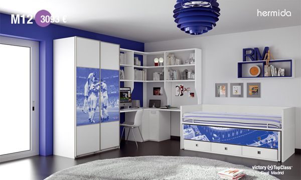 Real madrid 2 deco habitaciones chicos pinterest muebles habitacion chicas y dormitorios - Habitaciones infantiles tematicas ...