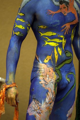 Male body art