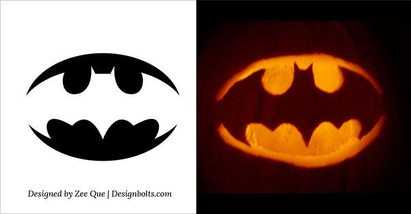 5 Easy Yet Simple Halloween Pumpkin Carving Patterns / Stencils ...