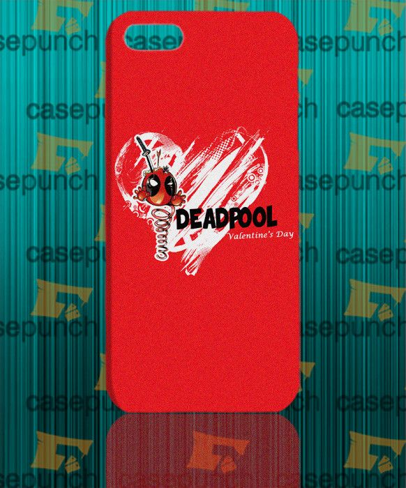 Mz4-spiderman Hearts Deadpool In Valentine For Iphone 6 6 Plus 5 5s Galaxy S5 S5 Mini S4 & Other Smartphone Hard Back Case Cover