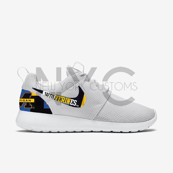 University of Michigan Wolverines Nike Roshe One Run by