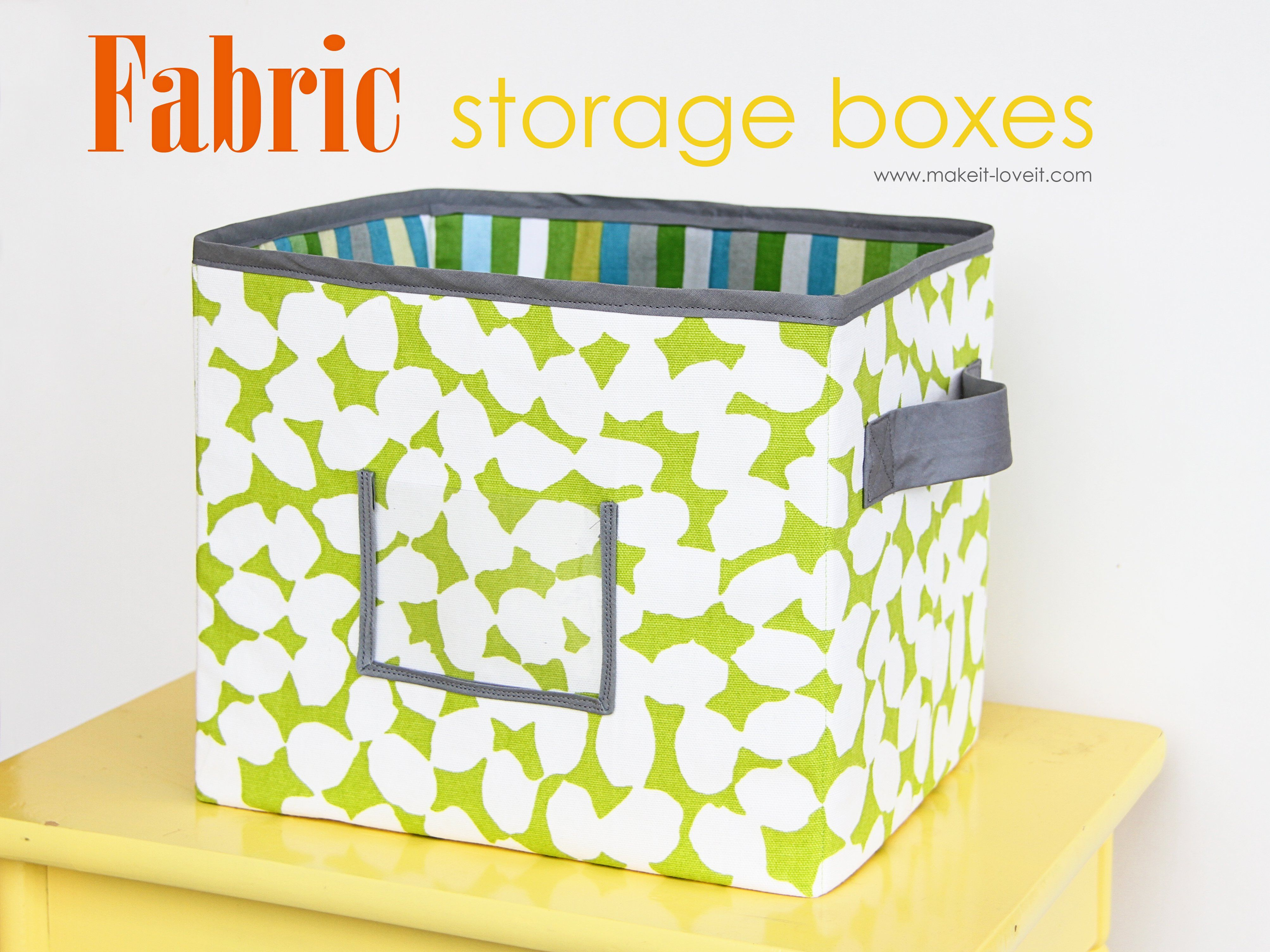 Storage Boxes Decorative Fabric How To Make Your Own Fabric Storage Boxesfor Under The Couch
