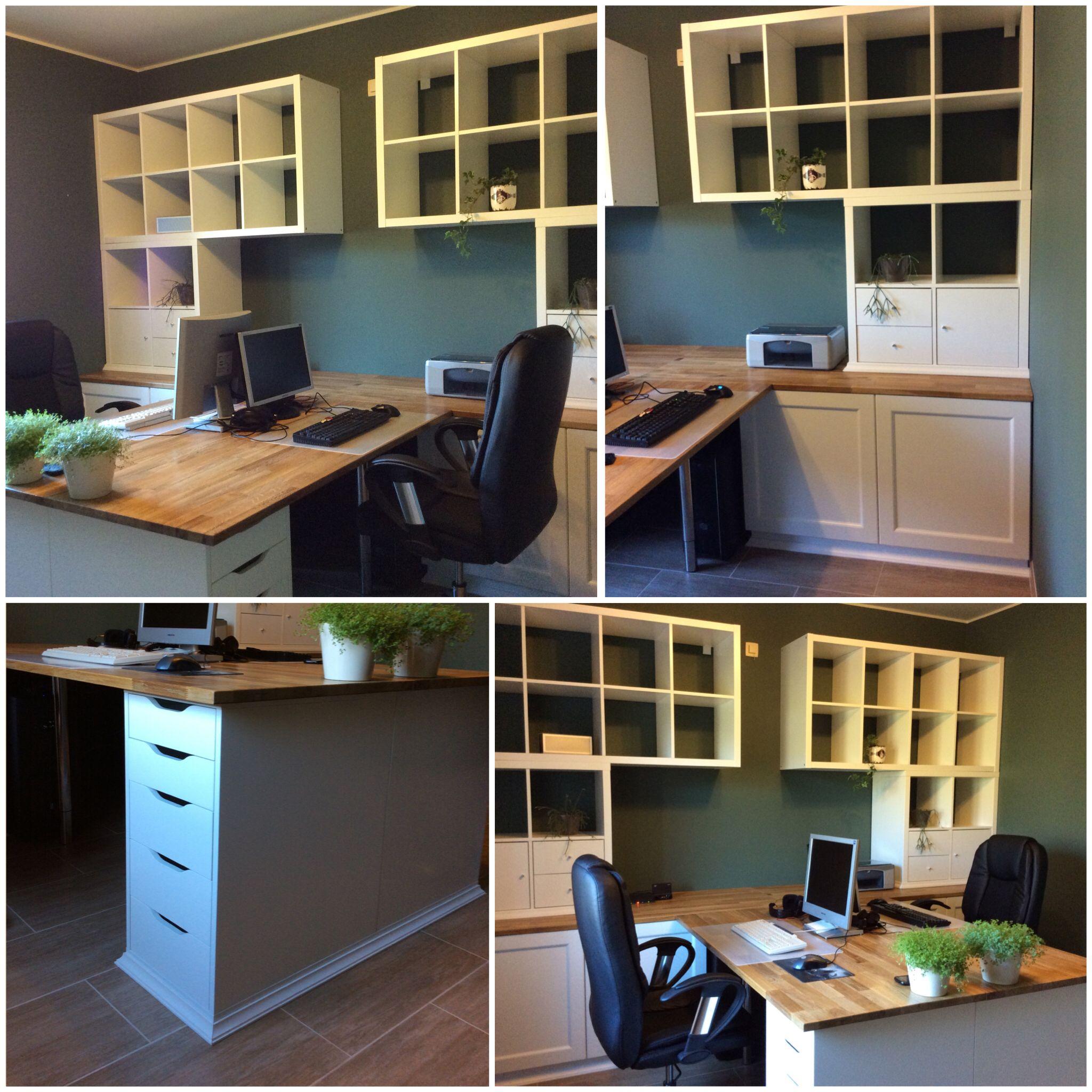 Notre Bureau Diy A Partir De Meubles Ikea Besta Kallax Alex