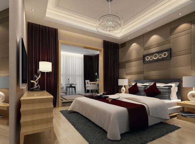 modern bedroom 3d model max 1 | Luxurious bedrooms ... on Model Bedroom Interior Design  id=39311