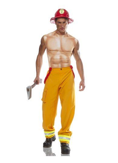 Firefighter Dude Mens Costume STD-XL