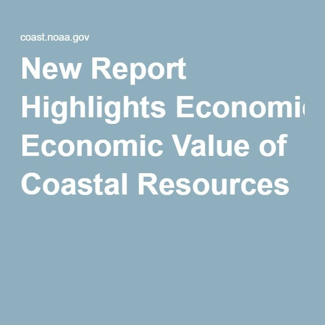 New Report Highlights Economic Value of Coastal Resources - training report
