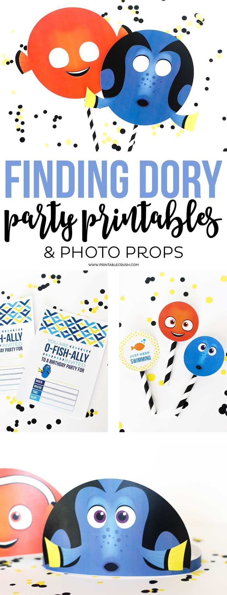 Download these adorable and FREE Finding Dory Party Printables for ...