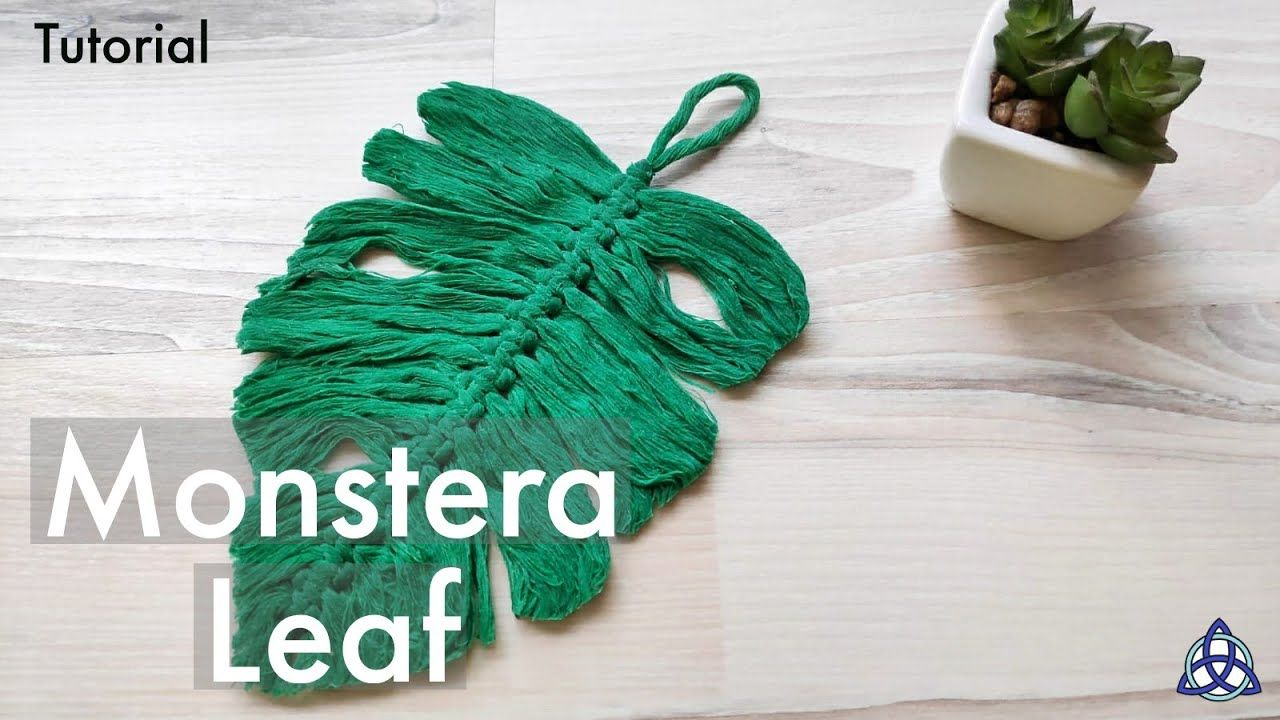 How to turn Macrame Feather into MONSTERA Leaf Tutorial