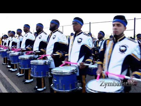 Prairie View A & M University Drum Section - Warming up at Jackson State University - Fall, 2014