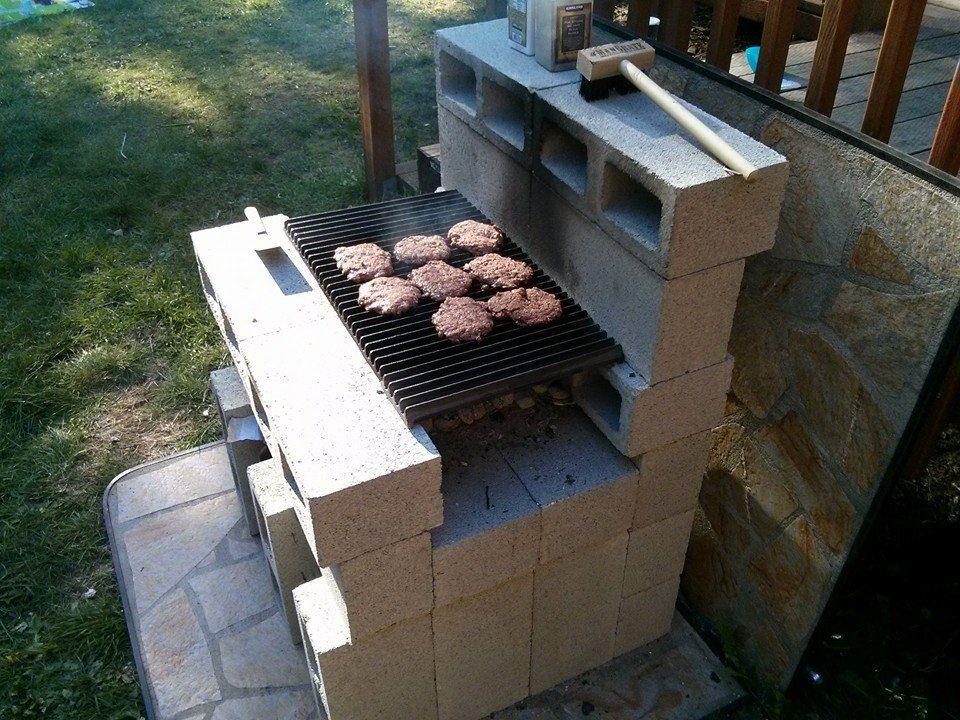 DIY Cinder Block Grill - Latest in Paleo | Backyard kitchen ... on homemade brick bbq pits, cement block smoker, homemade fire pit, cinder block grill and smoker, brick block smoker, cinder block pig smoker,