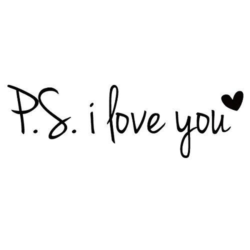 PS I Love You Vinyl Love Saying Love Wall Lettering Words Phrase Wall Decal Quotes Wall Stickers Home Art Decoration Black