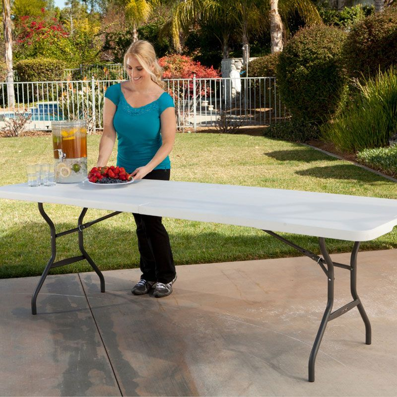 Costco Uk Lifetime 8ft Fold In Half Table Light Commercial Use
