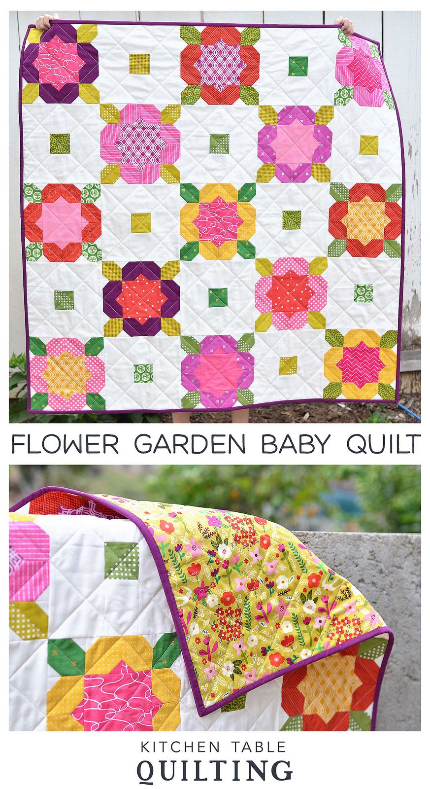 Flower Garden Quilt  Flower garden quilt, Garden quilt, Quilts