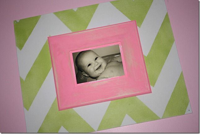 DIY Chevron Double Stacked Picture Frame from The Cobia Family