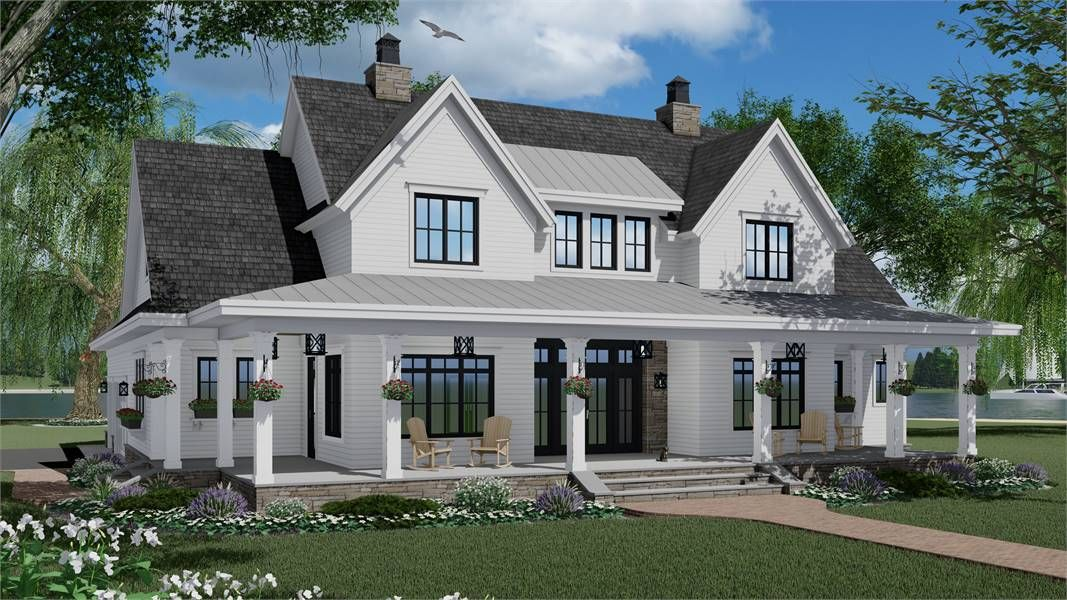 Featured House Plan Bhg 7375 Farmhouse Style House Modern Farmhouse Plans Farmhouse Style House Plans