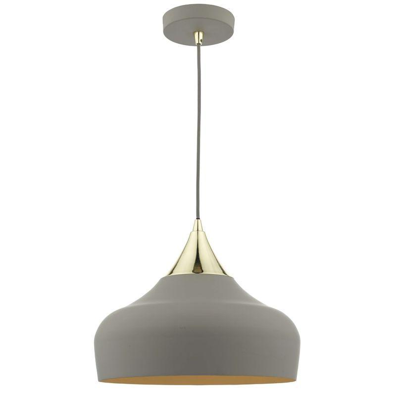 Orla Single Pendant Light Charcoal At