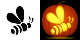 Bumble Bee Pumpkin Stencil Holiday Stuff Halloween Pumpkin