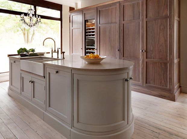 Teddy Edwards Goodwood Island Housing Sink, And Tall Bleached Walnut Larder  Cabinet