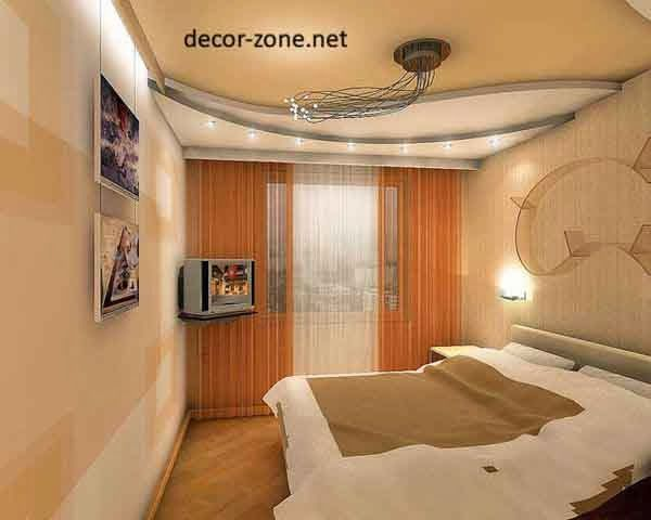 False ceiling designs for small bedrooms of gypsum for Bedroom gypsum ceiling designs photos