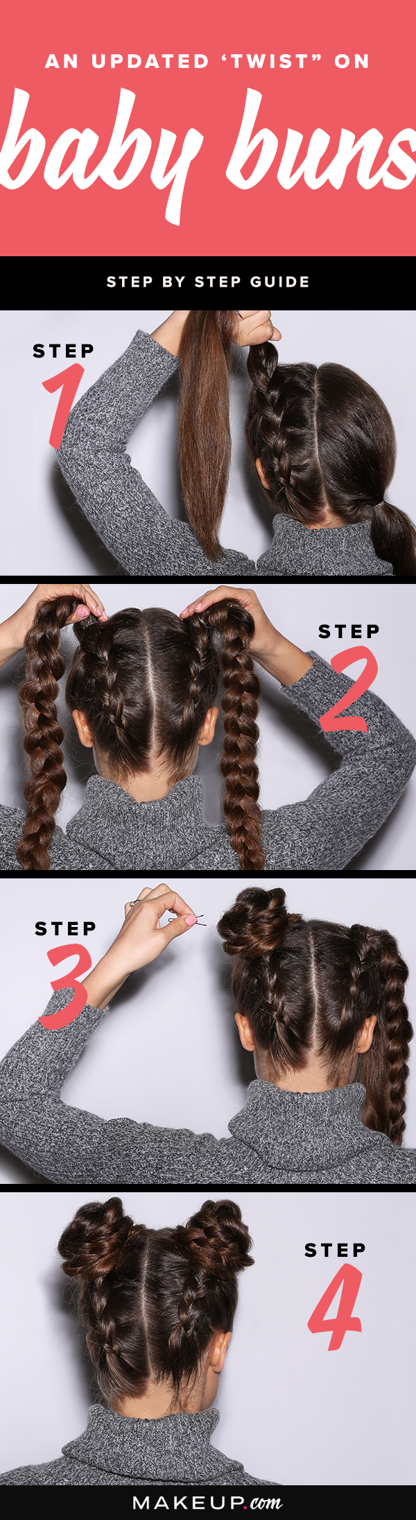 How to create braided baby buns bun hairstyle diy hair and tutorials