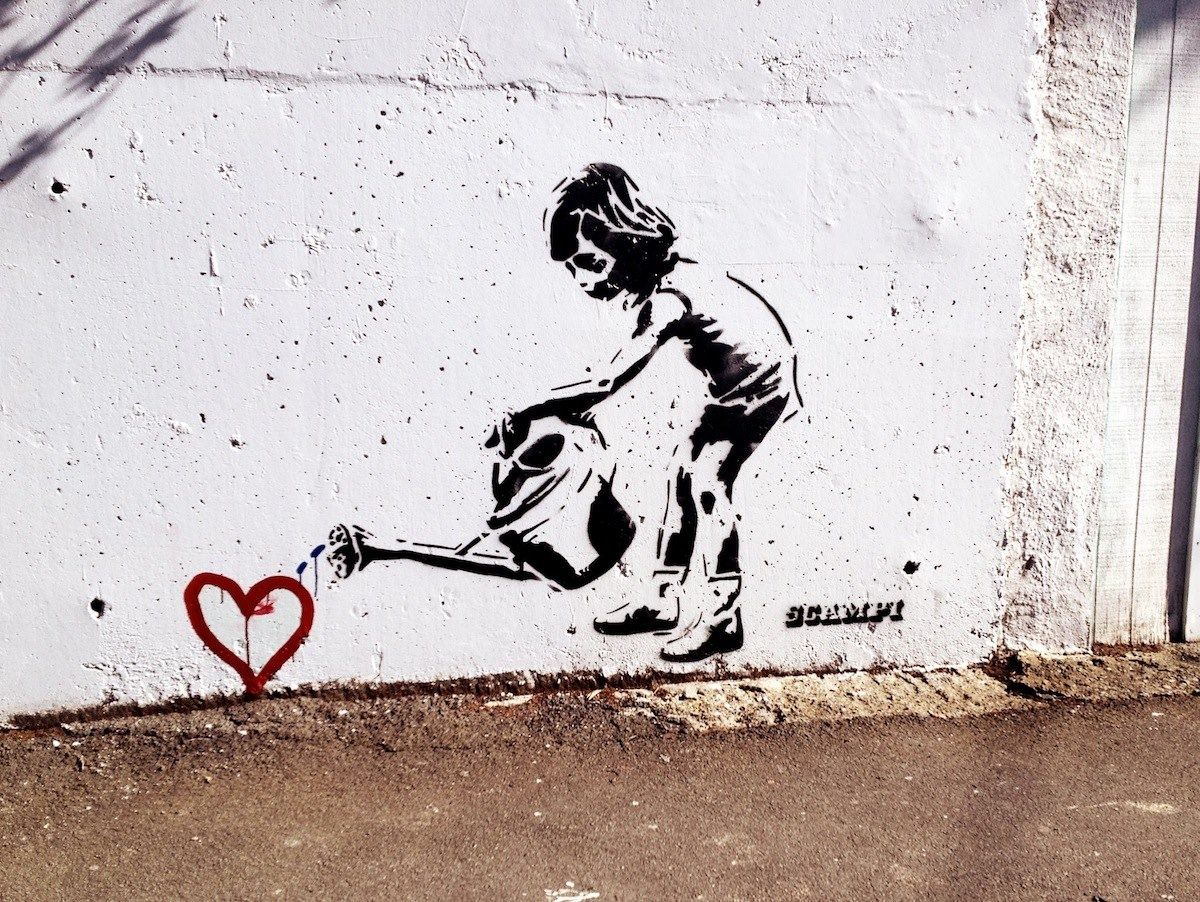 Banksy art :)                                                                                                                                                      More