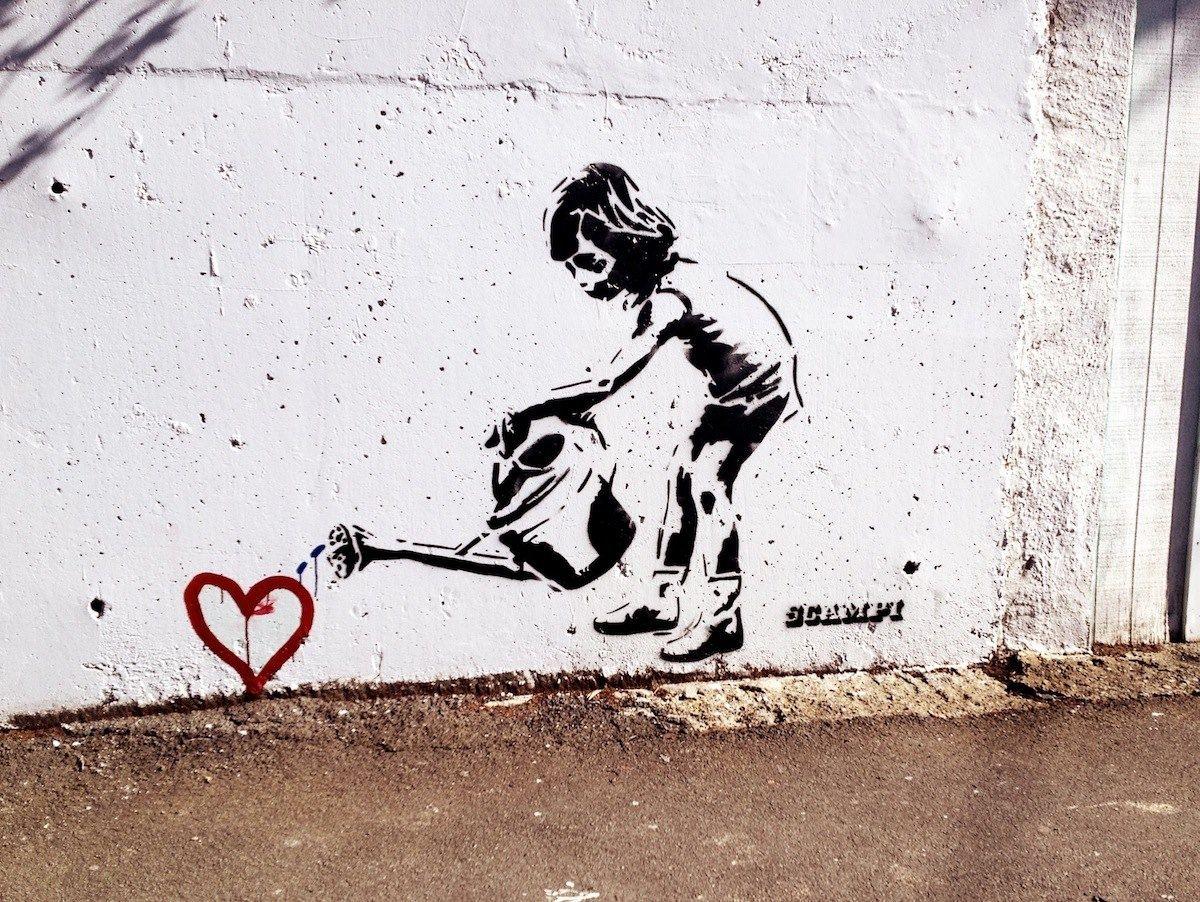 Banksy art :)                                                                                                                                                      More