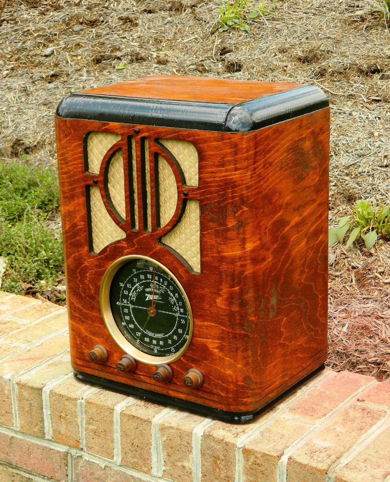 1938 Zenith Am And Shortwave Radio Model 6j230 Restored Cabinet