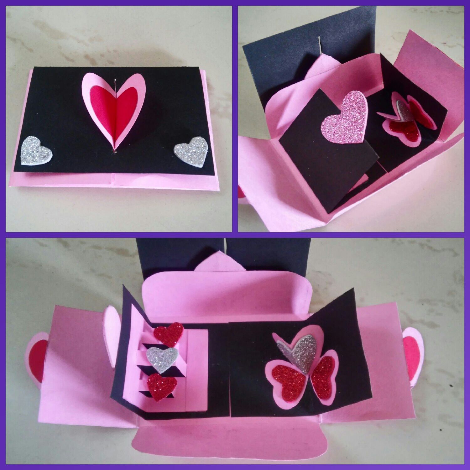 How To Make Handmade Pop Up Valentine Heart Card With A Lock