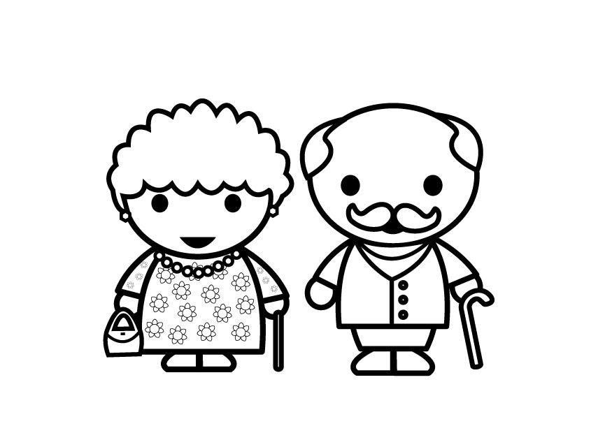 Resultado de imagen para dibujo infantil de abuelos | ilustraciones ...