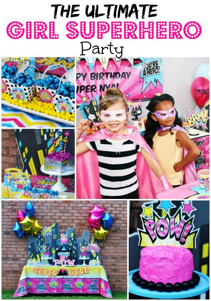 The Ultimate Girl Superhero Party Parties365 Party Ideas