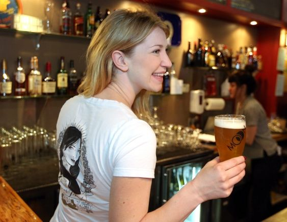 Chelsea Walker, co-owner of Moon Under Water Brewpub, is championing a new beer made by women in the industry.
