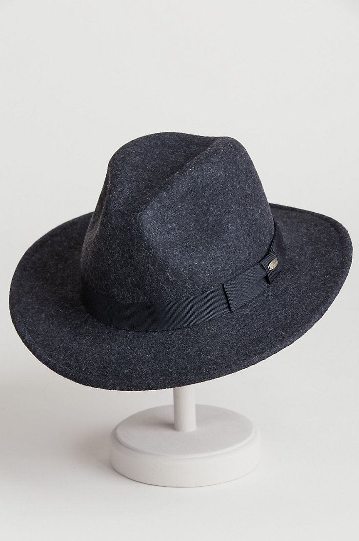 392d8356f581a Plymouth Crushable Wool Felt Fedora Hat