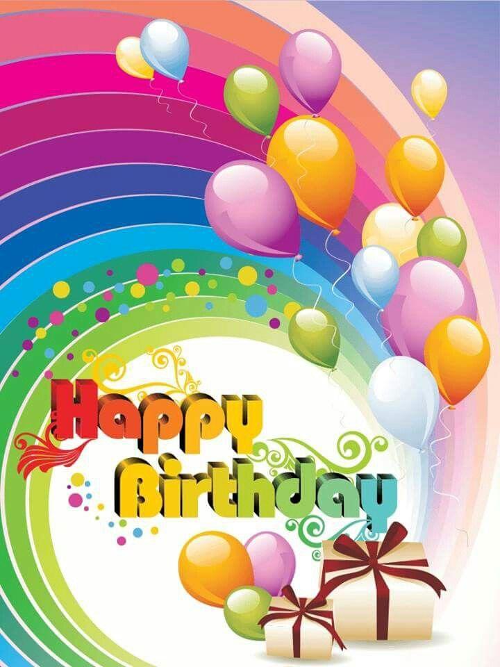 Картинках для, открытка радуга день рождения