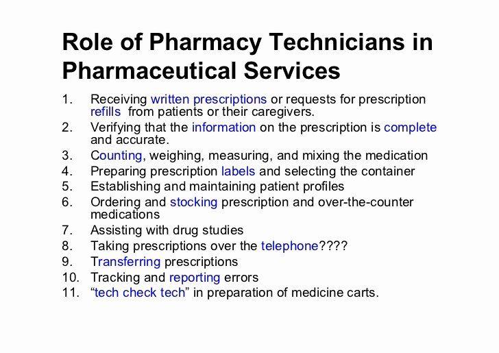 23 pharmacy technician job description for resume in 2020