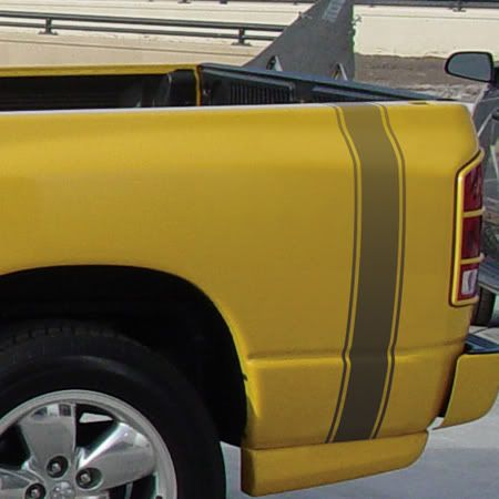 VANGUARD Chevy Truck Bed Fade Style Universal Fit Vinyl Decal - Truck bed decals custombody graphicsdodge ram