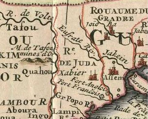 French Map of Ancient Africa. Ouidah, De Juda | FACTS OF TRUE