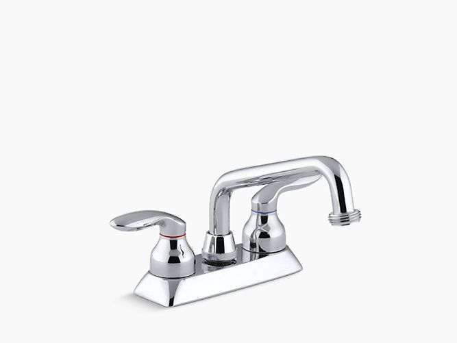 Sink Faucet Coralais Utility Sink Faucet With Threaded Spout And