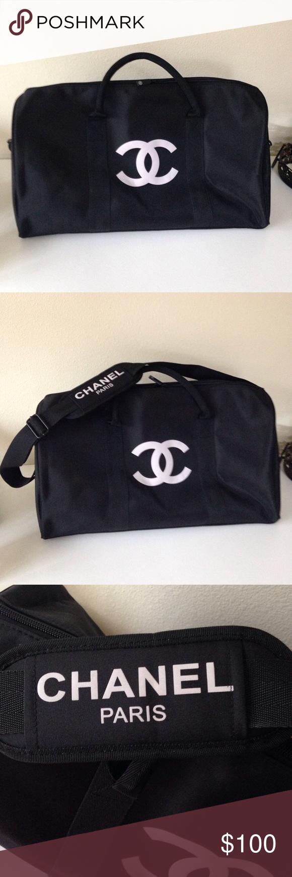 Chanel Duffle Vip Bag Vip Chanel Black And Sleepover
