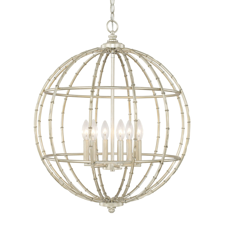 Capital Lighting 311861SF Soft Gold 6 Light Chinese