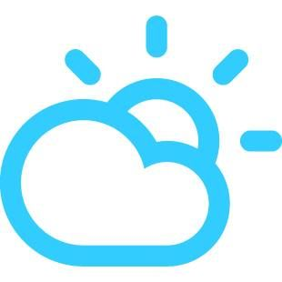 Partly Cloudy today! With a high of 50F and a low of 34F.