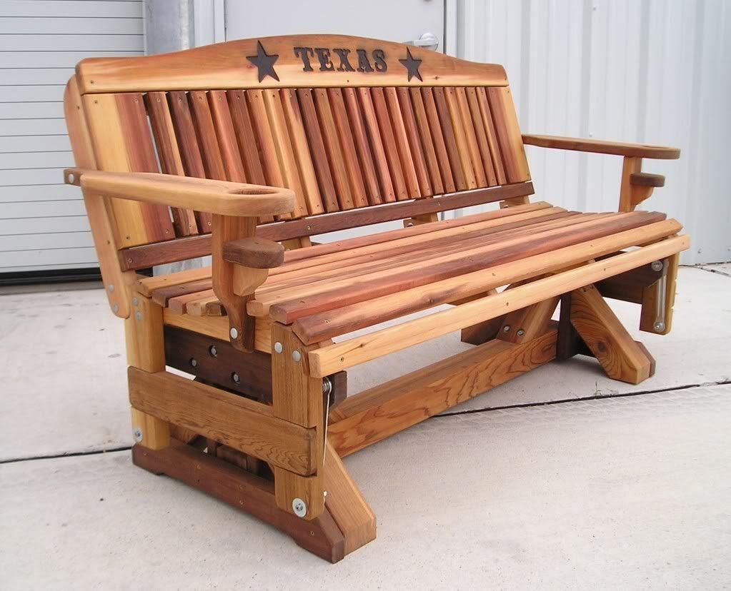 Cedar Glider Benches Wooden Bench Outdoor Furniture Woodworking Plans Free